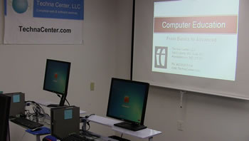 Computer training at Techna Center, LLC