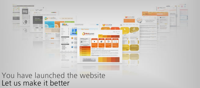 You have launched the website, let us make it better